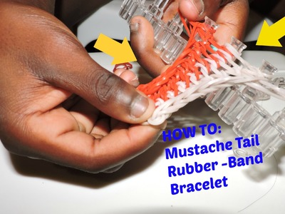 How to make a Baby Mustache Tail Rubber-band bracelet