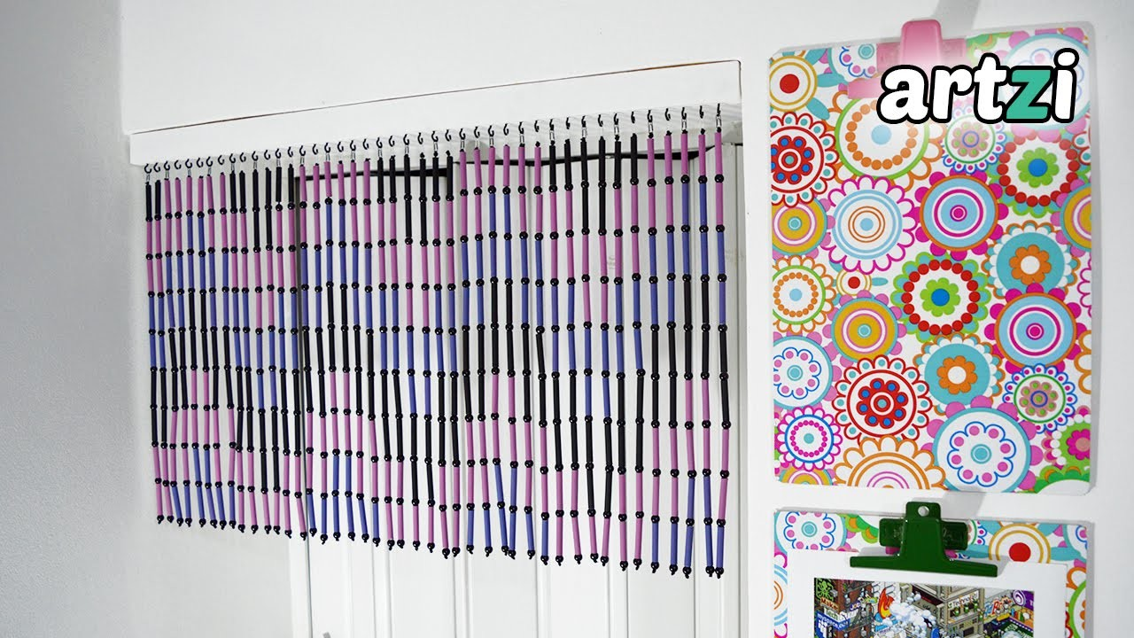 How to Make a Magazine Rolls and Beads Door Curtain