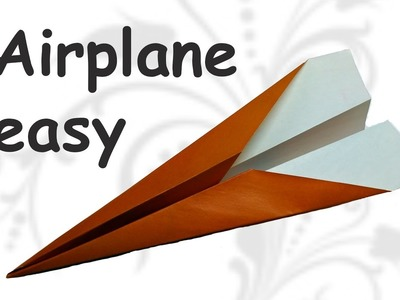 How to make a Paper Airplane. origami easy airplane.  DIY beauty and easy