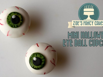 Mini halloween eye ball cupcakes How To Cake Tutorial