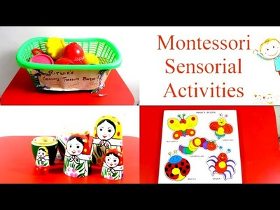 Montessori Sensory Educational Toddler Activities For Toddlers, Preschoolers and Kids