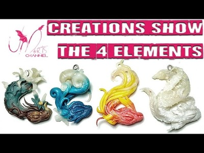 Polymer Clay Dragons - The 4 Elements - Fimo Dragons