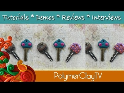 Polymer Clay Key Covers and Sculpey Texture Sheets
