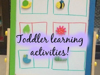 Toddler Learning Activities (with Free printables) - 14.02.2015