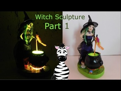 Witch Nightlight Polymer Clay Sculpture Tutorial Part 1 Sculpting