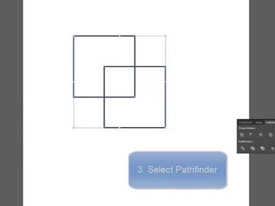 Adobe Illustrator how to use pathfinder intersect