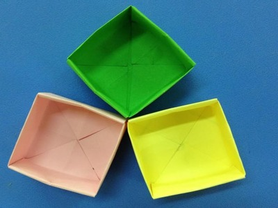 How to make a paper box | Easy origami box for beginners making | DIY-Paper Crafts