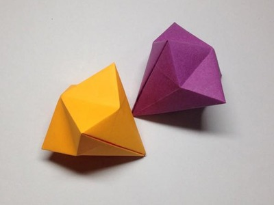 How to make a paper diamond | Easy origami diamonds for beginners making | DIY-Paper Crafts