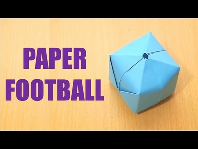 How to make a paper FOOTBALL that blows up - Paper Bomb (Ball)