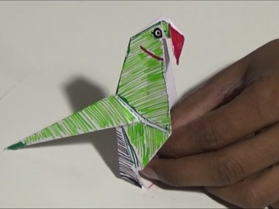 How to Make a Paper Parrot Easy | Paper Crafts for childrens