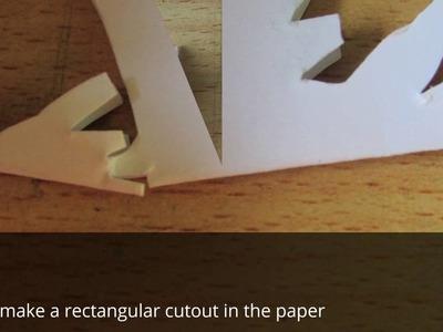 How to make simple deidara clay bird using 1 paper