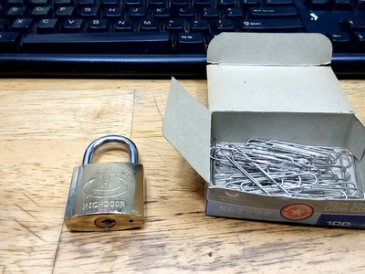 How to Pick a Lock with Paper Clips