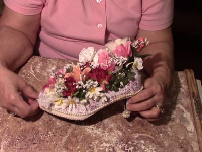 DIY   A Shoe Full Of Flowers Gifts Crafts Saundra A.Meades