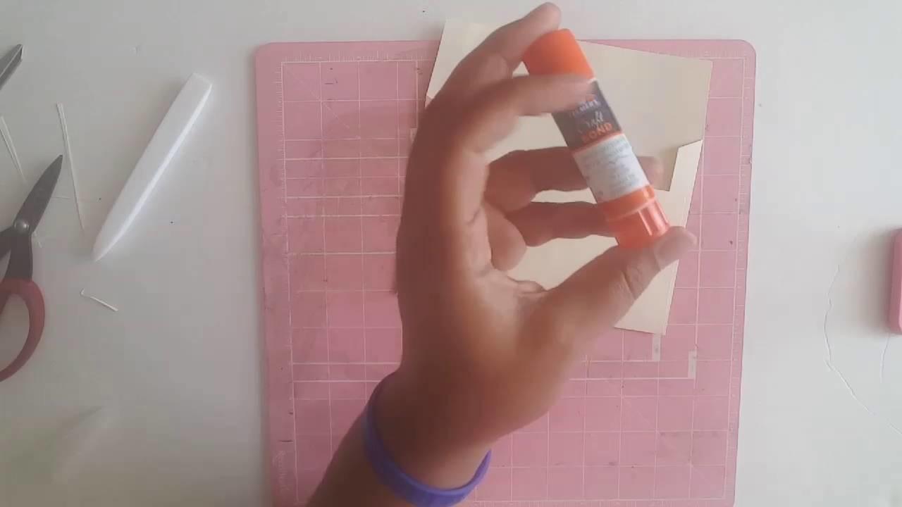 DIY A7 Envelope Tutorial - Wedding Envelopes -  Elegant Wedding -  5x7 Envelopes Handmade