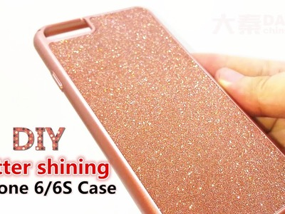 DIY Dubai Luxurious glitter shining dark pink iPhone 6.6S mobile case