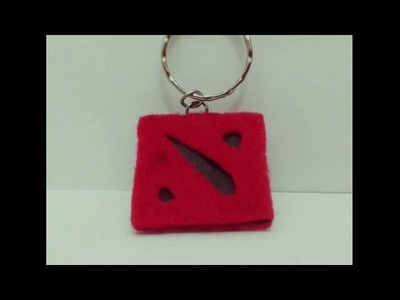 DIY How to make key chain DOTA 2