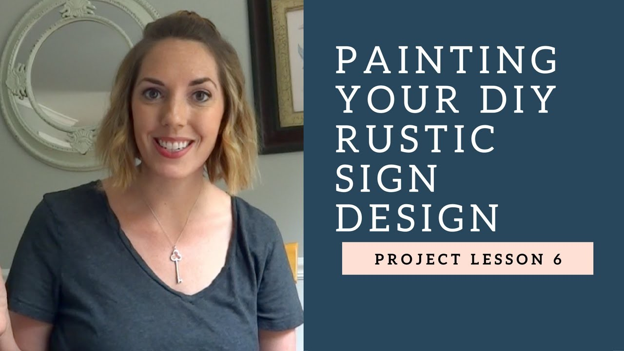How to Paint a Rustic Wood Sign!