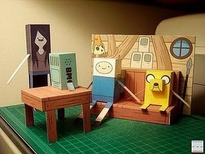 Adventure time papercraft DIY