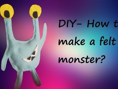 DIY-How to make a felt monster?