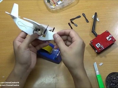 DIY How to make a Remote Controlled Airplane
