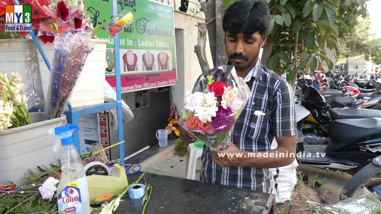 Flower Bouquet Preparation   How to Make a Bouquet   Making Flower Bouquet