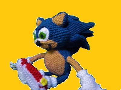 How To Crochet Sonic Part 4