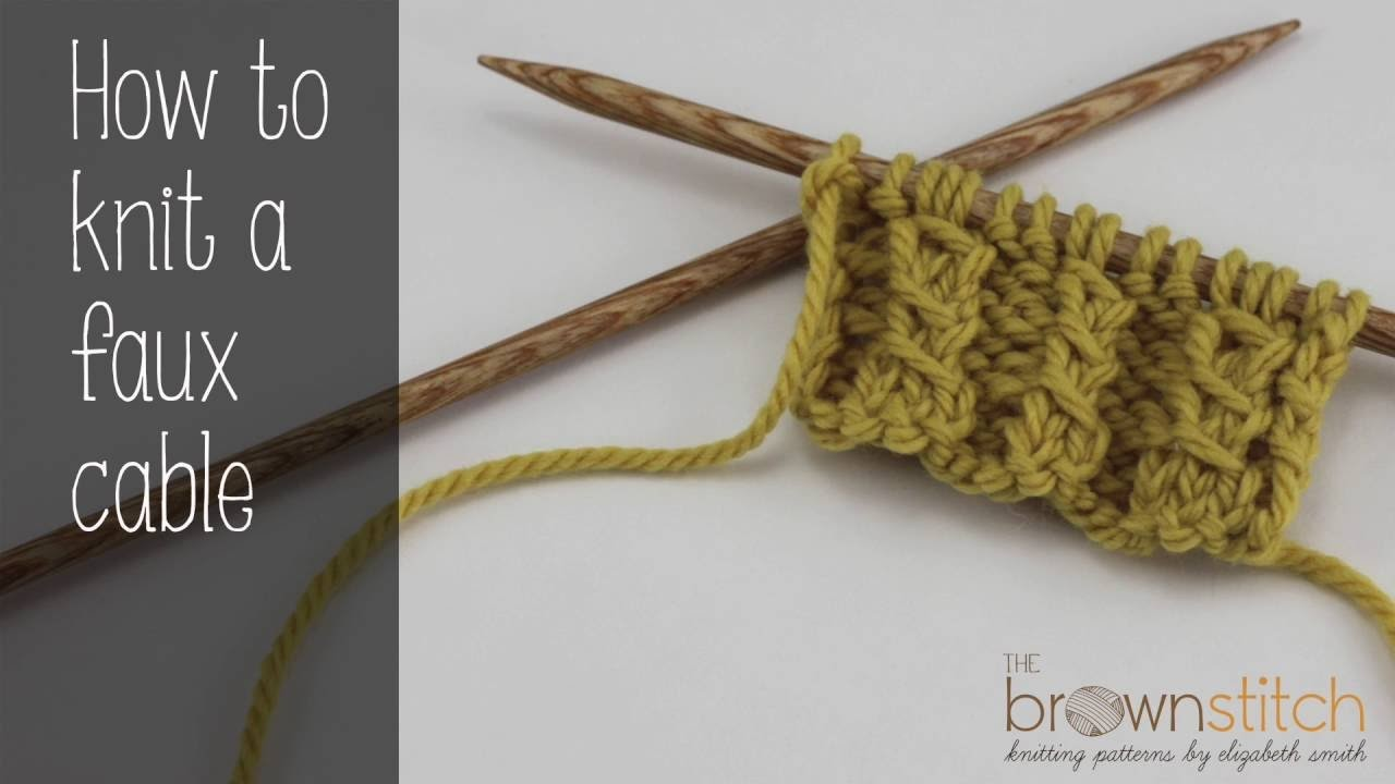 How to knit a faux cable