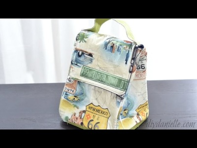 How to Sew a Simple Lunch Bag with Hook & Loop Closure