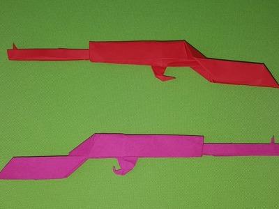 Origami AK 47 Kalashnikov (How to make) [Full HD]