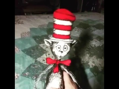 The Cat in the Hat Amigurumi Crochet Doll I Made (Commission)