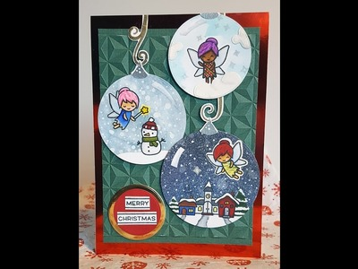 12 Days of Christmas Cards - Day 5: Fairy Ornaments