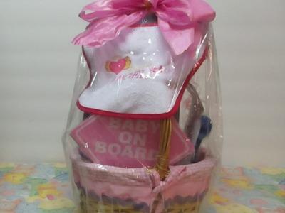 Baby Girl Gift Basket. Dollar Tree DIY