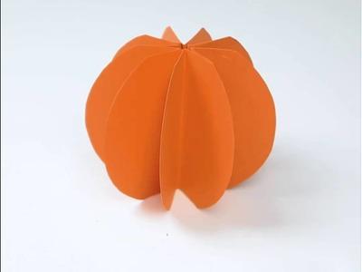 DIY cute paper pumpkins  I love the cinnamon stick idea!