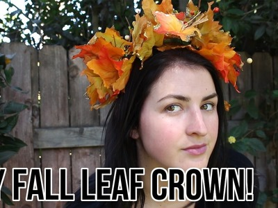 DIY Fall Leaf Crown Tutorial