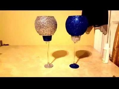 DIY-Glittered Candleholders for  $2.00