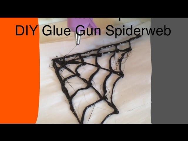 DIY Glue Gun Spider Web. Halloween Decor