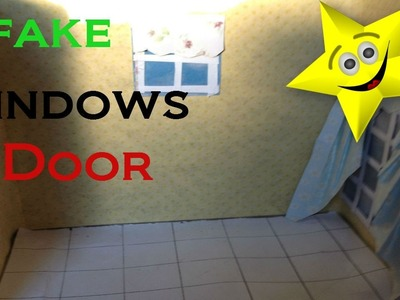 DIY How To Make Fake Windows, Door, tiles and Curtains Part one