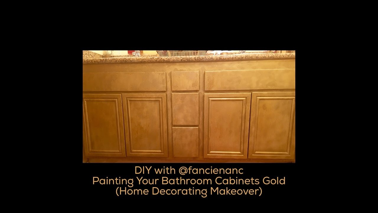 DIY with fancienanc: Painting Gold Glitter Cabinets in the Bathroom, A  Home Makeover