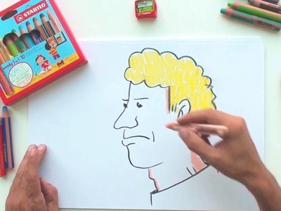 How to draw a man (STABILO Tutorials, drawing beginners)