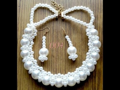 How to make a beautiful easy pearl Necklace