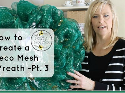 How to Make a Deco Mesh Wreath - Part 3