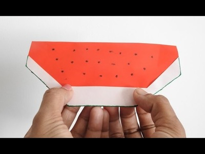How to make an Origami Watermelon. .