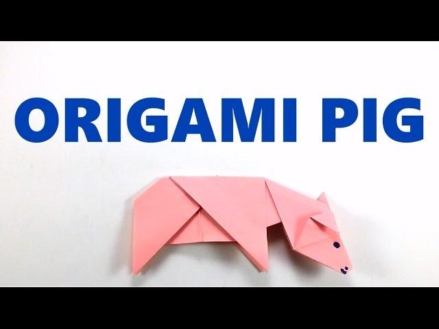 How to Make Origami Pig - Easy Origami Tutorial - DIY - Paper Folding Pig - Paper   Craft