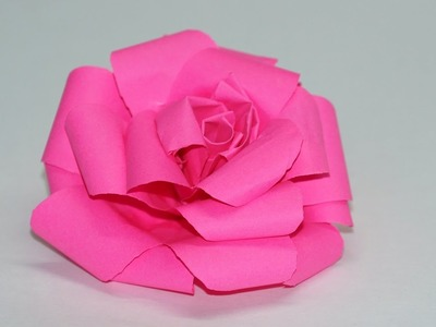 How to make Paper Rose. Easy Tutorial. DIY beauty and easy