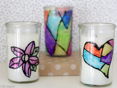 How to Make Stained Glass with Sharpies