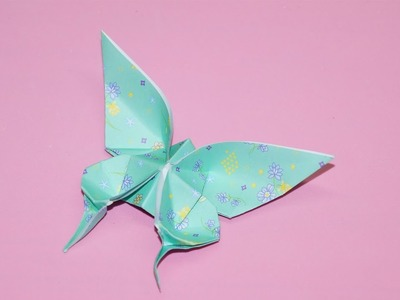 Origami butterfly. DIY beauty and easy