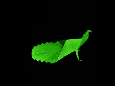 Origami Easy Peacock With Paper