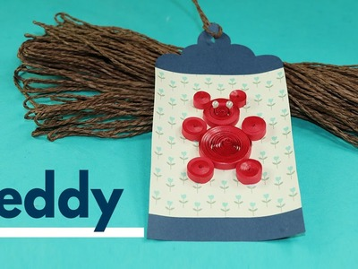 Paper Quilling DIY Kids Craft - Create Paper Quilling Tag, Bookmark Teddy Bear Design