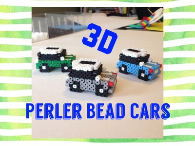 3D Perler Bead Car.Cute Mini Car Tutorial!!