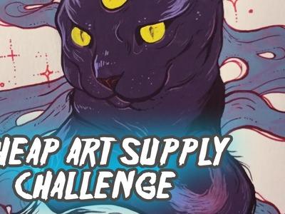 Alchemy Cat!! Gouache Painting. Cheap(ish) Art Supply Challenge #2